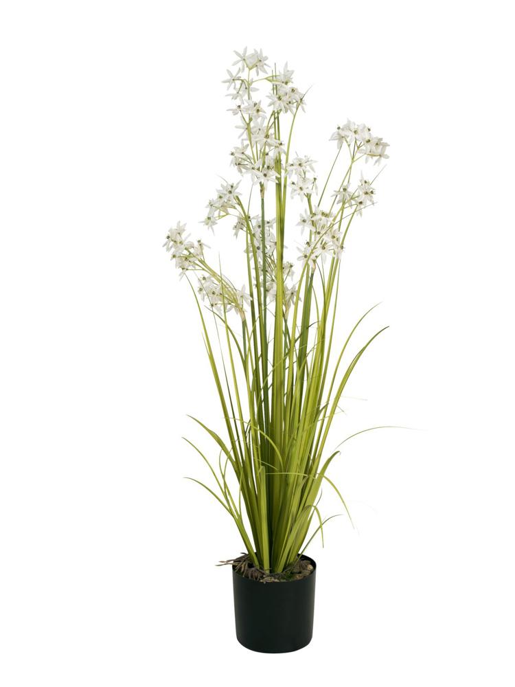 Europalms Jasmin grass, artificial plant, white, 130 cm