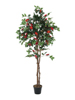 Camelia red cemented, artificial plant, 180cm