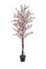 Cherry tree with 4 trunks, artificial plant, pink, 150 cm