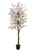 Cherry tree with 4 trunks, artificial plant, pink, 180 cm