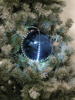 LED Snowball 8cm, dark blue 5x