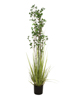 Evergreen shrub with grass, artificial plant, 182cm
