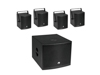 Set MOLLY-12A Subwoofer active + 4x MOLLY-6 Top 8 Ohm, black