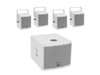 Set MOLLY-12A Subwoofer active + 4x MOLLY-6 Top 8 Ohm, white