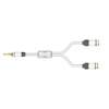 Real Cable y-split 3.5mm male to female