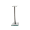 Epur Stand Brushed Steel Glass