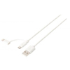 Sweex 2-i-1 Sync/Charge USB A Ma > Micro B Ma 1m White