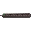 Brennenstuhl 10-Way socket Eco-Line 3m Black
