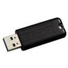 Verbatim PinStripe USB Drive 128 GB USB3 Black