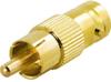 Adapter Goldplated RCA Ma > BNC Fe