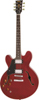 Vintage Left Handed Semi-Acoustic Guitar Cherry Red