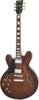 Vintage Left Handed Semi-Acoustic Guitar Natural Walnut