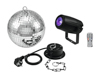 Mirror Ball 20cm with motor + LED PST-5 QCL Spot bk
