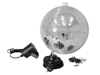Mirror Ball Set 30cm with LED Spot