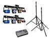 Set 2x LED KLS Laser Bar PRO + Easy Show + 2x M-4 Speaker-System Stand