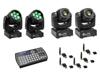 Eurolite Set 2x LED TMH-W63 + 2x LED TMH-S30 + USB QuickDMX + Easy Show