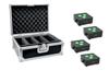 Eurolite Set 4x AKKU IP Flat Light 3 bk + Case
