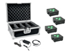 Eurolite Set 4x AKKU IP Flat Light 3 bk + Charger + Case