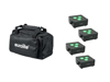 Set 4x AKKU IP Flat Light 3 bk + Soft-Bag