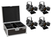 Eurolite Set 4x AKKU THA-20PC TRC Theater-Spot bk + Case