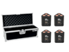 Eurolite Set 4x AKKU TL-3 QCL RGB+UV Trusslight + Case