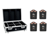 Eurolite Set 4x AKKU TL-3 QCL RGB+UV Trusslight + Case with charging function