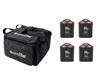 Eurolite Set 4x AKKU TL-3 QCL RGB+UV Trusslight + SB-4 Soft Bag