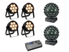Eurolite Set 4x LED 7C-7 Silent Slim Spot + 2x LED B-40 HCL + Easy Show