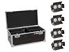 Eurolite Set 4x LED CBB-2 WW/CW Fairlight + Case