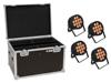 Eurolite Set 4x LED IP PAR 12x8W QCL Spot + Case