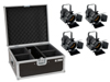 Eurolite Set 4x LED THA-20PC TRC Theater-Spot bk + Case
