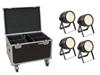 Eurolite Set 4x LED Theatre COB 200 WW + Case with wheels