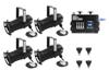 Eurolite Set 4x PAR-20 Spot bk dim2warm + EDX-4 DMX RDM LED Dimmer pack