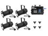 Eurolite Set 4x PAR-30 Spot sw dim2warm + EDX-4 DMX RDM LED Dimmer pack