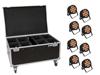Eurolite Set 8x LED IP PAR 12x8W QCL Spot + Case with wheels