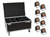 Eurolite Set 8x LED IP PAR 12x9W SCL Spot + Case with wheels