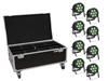 Eurolite Set 8x LED IP PAR 7x9W SCL Spot + Case with wheels