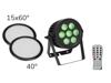 Eurolite Set LED IP PAR 7x9W SCL Spot + 2x Diffuser cover (15x60° and 40°)