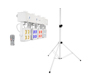 Eurolite Set LED KLS-180 white + BS-2 EU Loudspeakerstand white