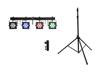 Eurolite Set LED KLS-3002 + M-4 Speaker-System Stand