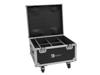 Roadinger Flightcase 4x AKKU IP PAR 7 QCL WDMX with charging function