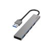 Hub USB-A 3.0 4x Ports 5 Gbit/s Grey