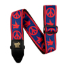 Ernie Ball EB-4698 Peace Love Dove Strap Red & Blue