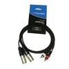 Accu-Cable 2xXLR Ma > 2xRCA Ma 5m