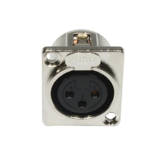 Accu-Cable XLR 3Pin Panel Metal F