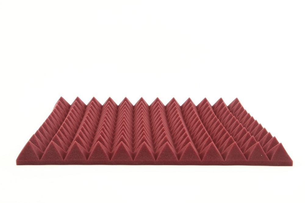 Auralex 2' Studiofoam Pyramids Burgundy