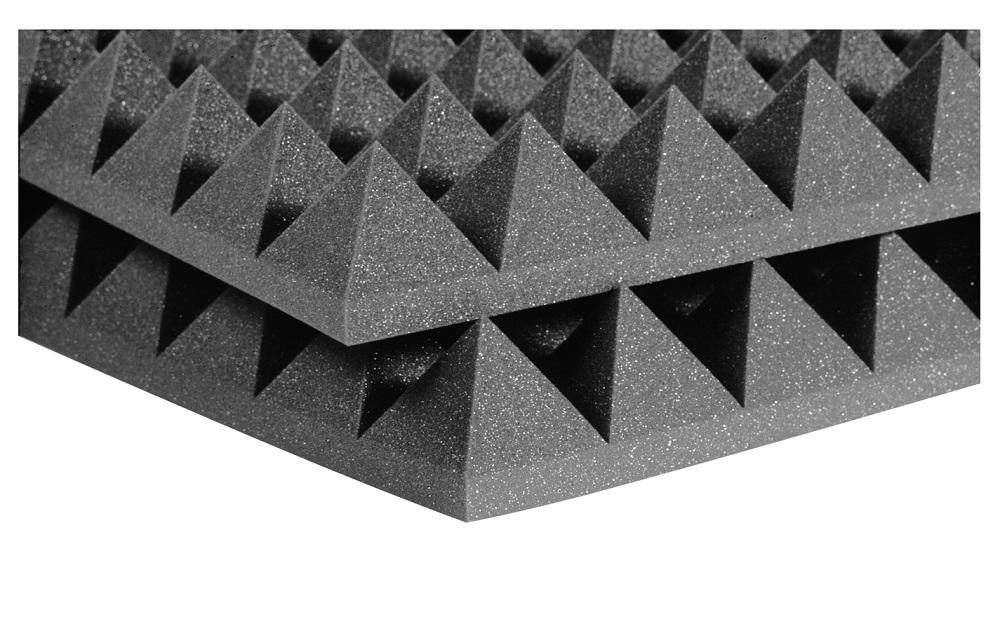 Auralex 4'' Studiofoam Pyramids Charcoal