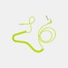 C18 Coiled neon yellow 1.5m cable