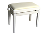 Piano Bench Deluxe White