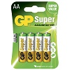 GP Batteries Super 15AE-2U4 / LR6 / AA 4-pack Blister